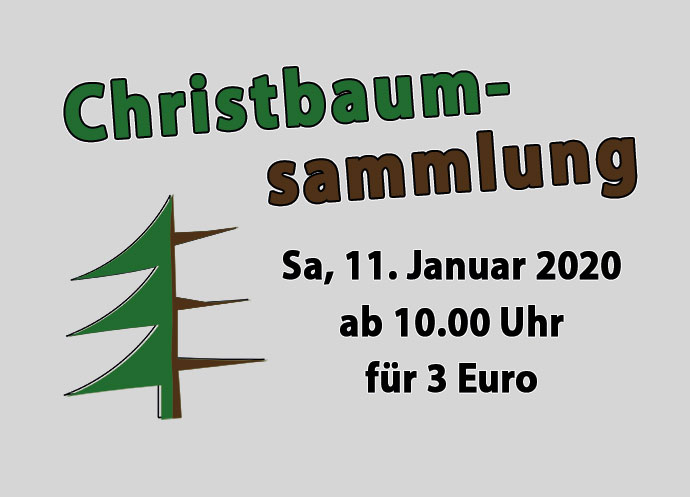 Flyer Christbaumsammlung